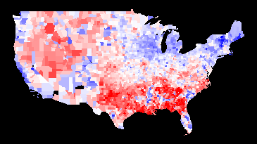 2008 (Obama vs. McCain) minus 1960 (Kennedy vs. Nixon)
